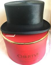CHRISTYS' LONDON TOPPER TOP HAT 60cm 7 1/2 SUPER QUALITY Black Rabbit FUR FELT