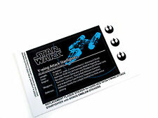 REPLACEMENT STICKERS for STAR WARS Lego 10134 Y-WING STARFIGHTER PLAQUE ,toy,etc