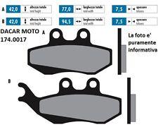 174.0017 PASTIGLIE FRENO ORIGINAL POLINI HM CRE 50,DERAPAGE 2007-2012 (50X-50R)