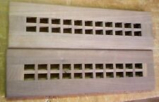 """Walnut Cold Air Return Floor Register Vent Cover for 2"""" W x  12"""" L Duct Opening"""