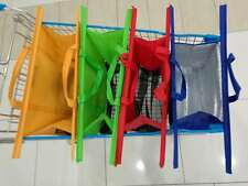 4pcs a set of Bags Reusable Grocery Cart Shopping Trolley Bags with COOLER BAG
