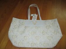 NWT Disney Parks White Gold Mickey Mouse Laser Cut Outs Tote Purse Handbag $70