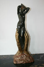 1910 M. Bouraine French Art Nouveau Art Deco Bronze Figur Skulptur Original 20kg