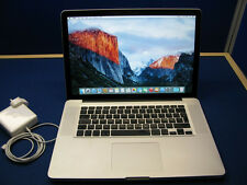 "Apple MacBook Pro A1286 15.4"" LATE 2008 C2D 2.66GHZ 4GB 320GB 9400M CYCLE 1"