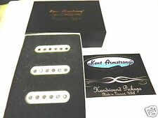 SET OF KENT ARMSTRONG TRISONIC HANDWOUND SINGLE COIL STRAT PICKUPS WHITE