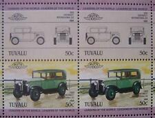 1929 CHEVROLET International Six Car 50-Stamp Sheet Auto 100 Leaders of World