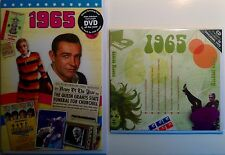 1965 - 51st Birthday Gifts Set - 1965 DVD Britpop CD and Card - CD Card Company.