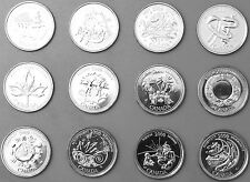 COMPLETE SET of 12 -2000 Canada 25 Cents Quarter Coins Millenium Series ALL UNC