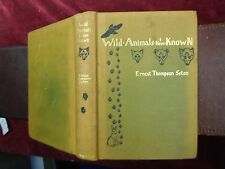 WILD ANIMALS I HAVE KNOWN, 200 DRAWINGS by ERNEST THOMPSON SETON/SCARCE 1904