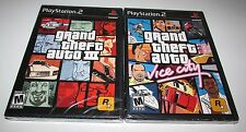 Grand Theft Auto III & Vice City Bundle for Playstation 2 Factory Sealed!