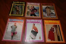 LOT OF 6 KNITKING MAGAZINES 1976 & 1977 VOL 13 NO 1 2 3 4 5 & 6 KNITTING VINTAGE
