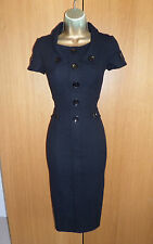 Stunning Karen Millen Black Wiggle Dress UK 10 38 Work Buisiness Office Pencil