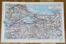 1924 ORIGINAL VINTAGE MAP OF ISTANBUL CONSTANTINOPLE VICINITY MARMARA SEA TURKEY