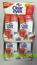 24 PACK OF CLEAR EYES  DROPS REDNESS RELIEF 0.2 OZ.6 ML UP TO 12 HOURS EXP 2019