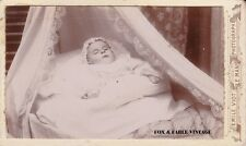 Antique Post-Mortem CDV Photo - Baby In Crib - Funeral, Mourning, Memento Mori