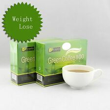 2 Boxes Leptin Green Coffee 800 Slimming Tea Weight Loss 18 sachets each box