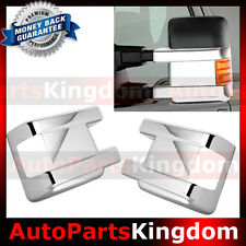 08-16 Ford Super Duty F250+F350+F450+Turn Light Hole Lower Chrome Mirror Cover