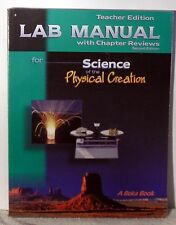 A Beka Science  Lab manual with chapter reviews  Teacher Edition 2nd edition