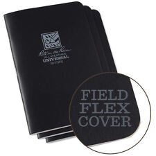 Rite in the Rain 771FX All-Weather Stapled Notebook Black 3 pack