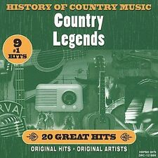 History Of Country Music: Country Legends - New Country Music CD