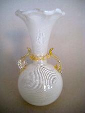 Murano Zanfirico Glas Vase Fadenglas Fäden und Gold Einschmelzungen