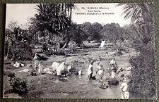 CPA. OUDJA. MAROC. 1914-18. Sidi Yahia. Femmes Indigènes à la Rivière.