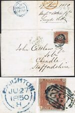 1841 1d Red LI BLUE-GREEN 132 BRIGHTON Fine Strike Cat. £750