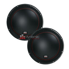"""Two (2) MTX Audio 5512-44 Car Stereo 12"""" Dual 4 Ohm Subwoofers 1,600W Subs New"""