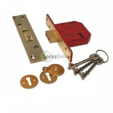 "Union 5 Lever Mortice Sashlock Insurance Approved J 2234E PL 3"" Polished Brass"