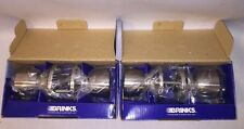 Lot Of 2 Brinks 2014-119 Bell Style Door Knob for Hall and Closet, Satin Nickel