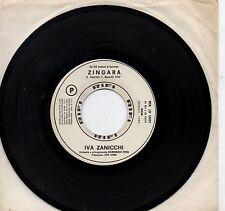 IVA ZANICCHI  FAUSTO LEALI disco 45 g. ITALY promo JUKE BOX Sanremo 1969 ZINGARA