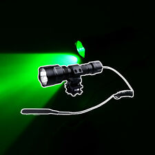 CREE C8 Green Light LED 300LM Hog Hunting Flashlight For Rifle W/Barrel Mount