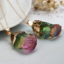 Freeform Natural Colorful Rock Crystal Quartz Stone Pendant For Necklace Jewelry