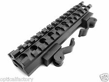 13 Slot Double Rail Angle Mount Quick Detach Picatinny Weaver Rail Scope Mount