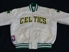 *BOSTON CELTICS STARTER BOMBER JACKE*BASKETBALL*NBA*WEISS*VINTAGE*GR: L*TIP TOP