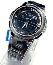 NEW CASIO OUTGEAR THERMOMETER WORLD TIME ALARM MAN'S WATCH AQF-102WD-1 AQF102W