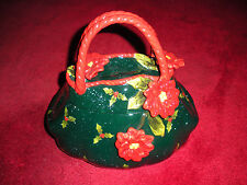 """Unmarked Cookie Jar In The Shape Of An Old """"Granny Type Purse- Near Mint Cond."""