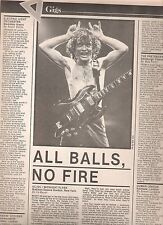 AC/DC Madison Square Gardens concert review 1981  ARTICLE / clipping