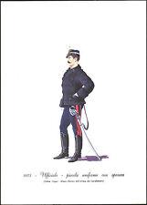 STAMPA UNIFORMI STORICHE-CARABINIERE UFFICIALE-PICCOLA UNIFORME CON SPENCER 1873