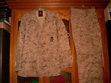 SET ISSUED USMC MARPAT Uniform DESERT Combat Shirt Pants SIZE MEDIUM LONG ML