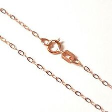 "100% GENUINE & PURE 9ct 9k 375 Rose Gold 16""/40cm Cable Trace Chain Necklace"