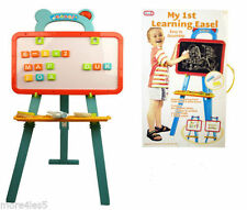 A to Z LEARNING EASEL CHALK BOARD & WHITE BOARD WITH MAGNETIC LETTERS-30107