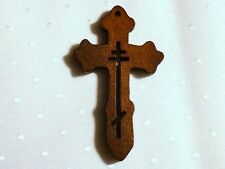 DARK WOODEN CRUCIFIX FOR PENDANT OR ROSARY - LASER CUT- 48 x 28 x 4mm.....P310 *