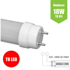 10W T8 LED Tube Lights - 2ft (600mm) POWER TO SINGLE END - Cool White 6500K