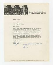 George HW Bush write a thank you letter for his campaign support to Ro... Lot 30