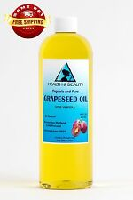 GRAPESEED OIL ORGANIC by H&B Oils Center COLD PRESSED PREMIUM 100% PURE 32 OZ