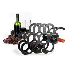 Designer Grape Wine Rack in BLACK WITH 8 BOTTLE CAPACITY by THE METAL HOUSE