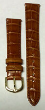 NEW 16MM Brown Genuine Leather Crocodile Watch Band! Wow!