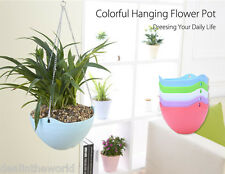 5pcs Hanging Flower Pot Chain Planter Indoor Outdoor Basket Flower Plant Holder
