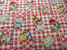 RPA133 Retro Kittens Kitschy Kitty Cute Love Notes Cotton Fabric Quilt Fabric